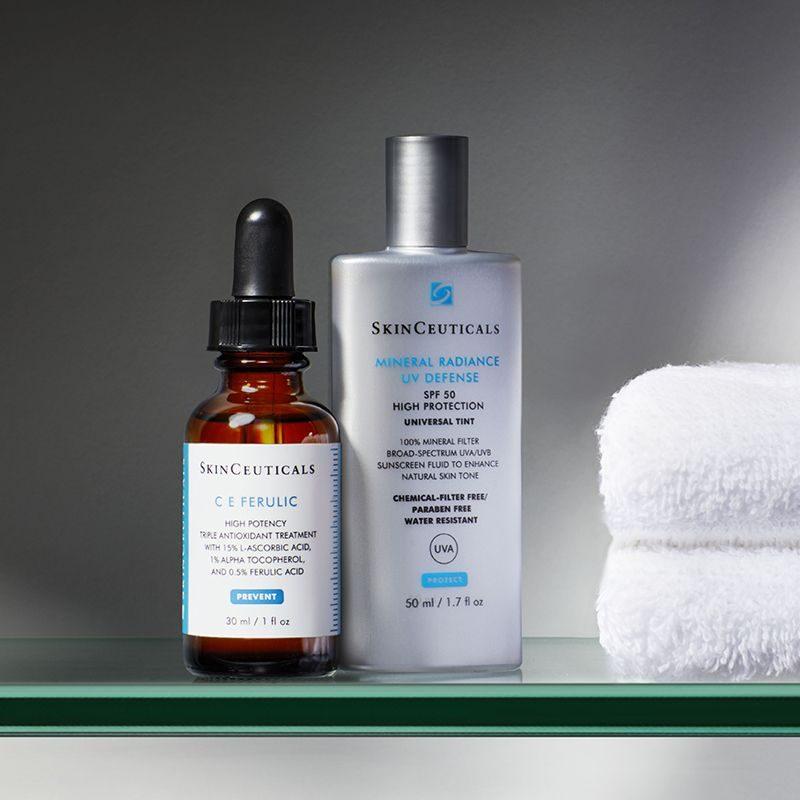 SkinCeuticals C E Ferulic and SkinCeuticals Radiance UV Defense